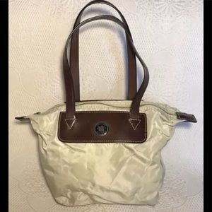 Dooney & Bourke tan nylon tote handbags